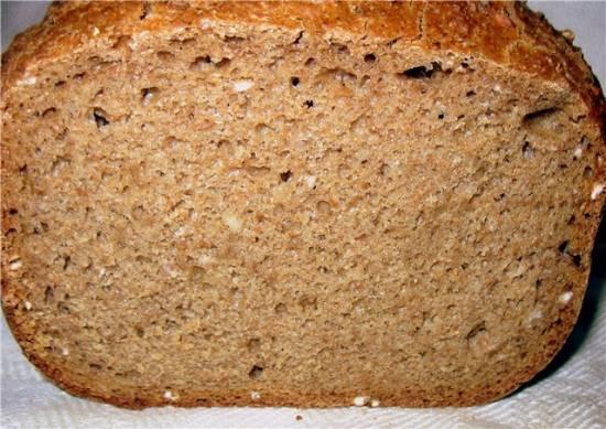 Ржаной хлеб с диспергированным зерном на луково-топинамбурной закваске в ХП