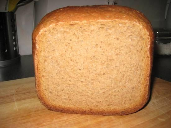Ржано - пшеничный хлеб на закваске и пиве в хлебопечке