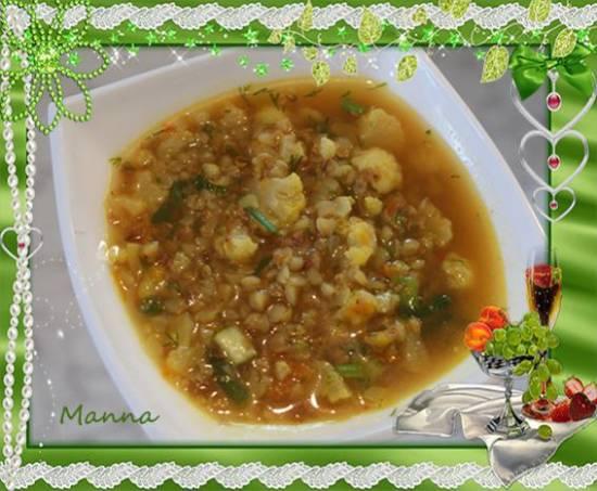 Овощной супчик с гречкой (коптильня Brand 6060)