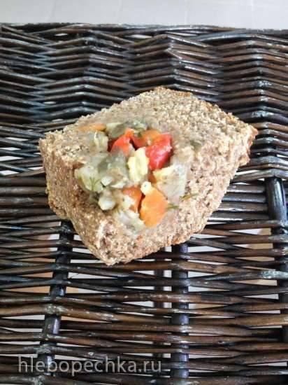 Ржаной цельнозерновой пирогохлеб с овощами в ХП