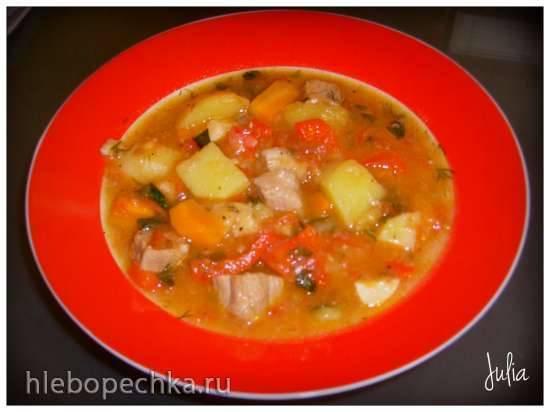 Венгерский суп-гуляш в мультиварке Филипс