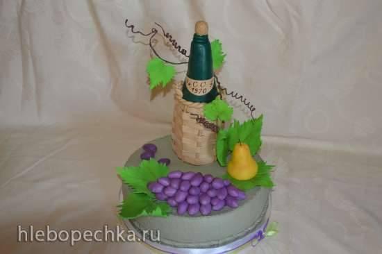 Бутылка из мастики для торта (мастер-класс)