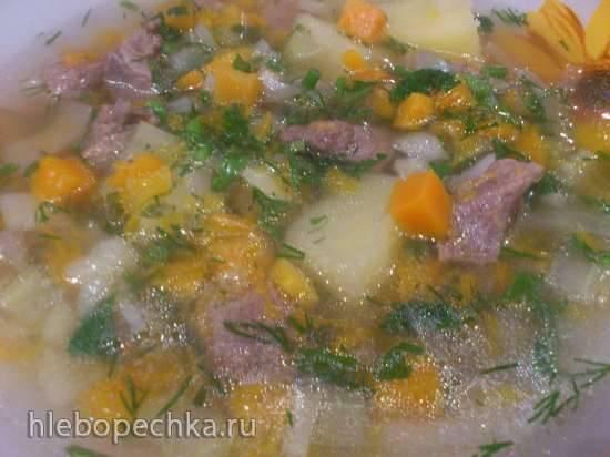 Витаминный тыквенный суп с сельдереем в мультиварке Bork U700
