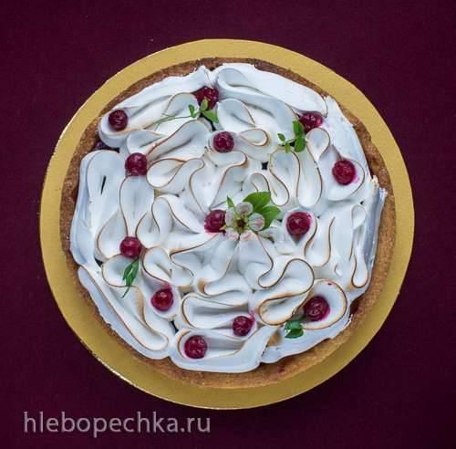 Johannisbeer - Kaesekuchen mit Merengue (Чизкейк с красной смородиной и меренгой)