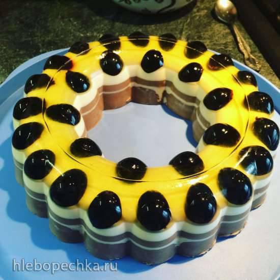 """Десерты в желейной форме """"Подсолнух"""" Tupperware"""