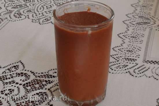 Диетический сливовый джем с горьким шоколадом