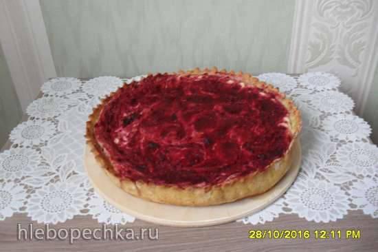Диетический сливовый пирог-чизкейк