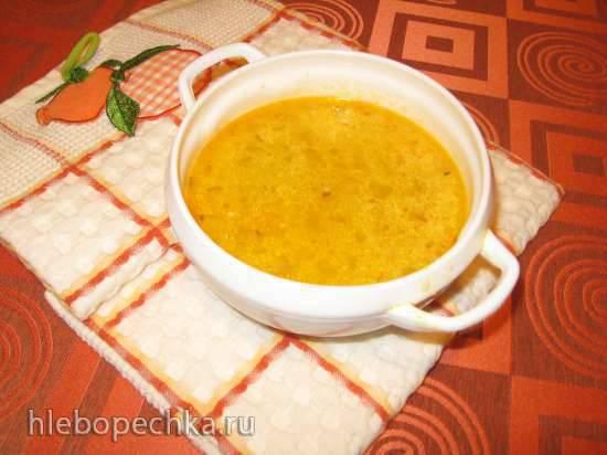 Куриный суп с кабачком, кукурузной крупой и сыром (мультиварка Redmond RMC-02, газовая панель)