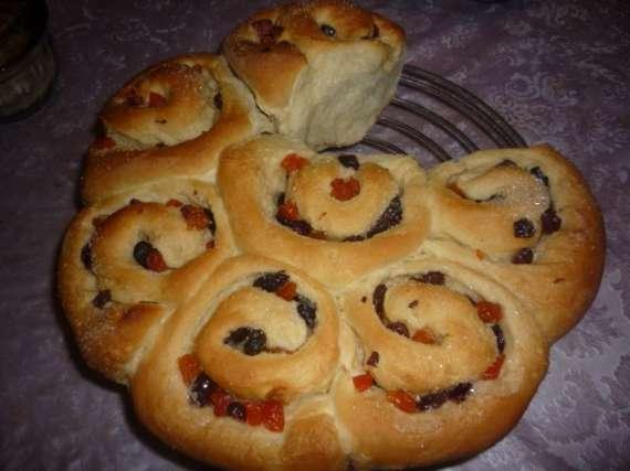 Английские булочки с фруктами