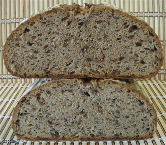 Ароматный хлеб на ржаной закваске в духовке